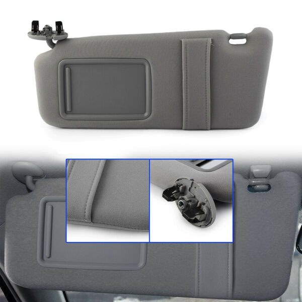 Left Driver Side Sun Visor without Sunroof Fit 2007-2010 2011 Toyota Camry Gray $22.99