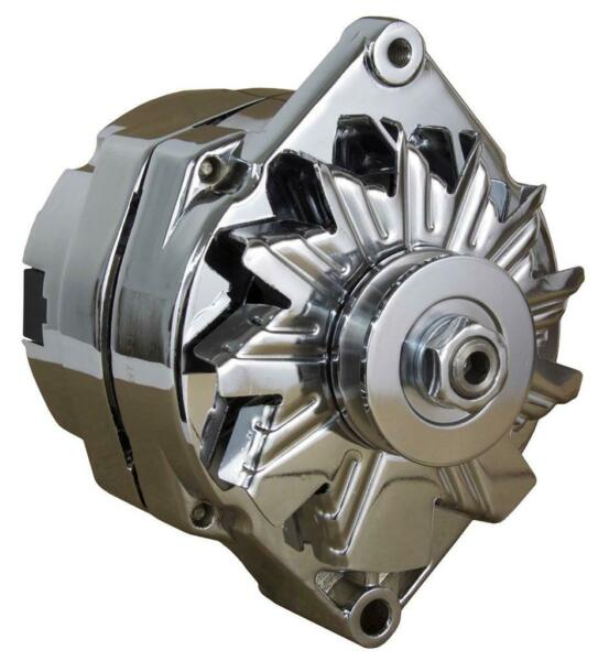 NEW CHROME STREET ROD GM HIGH OUTPUT ALTERNATOR FITS 1 ONE WIRE SELF ENERGIZING $67.41