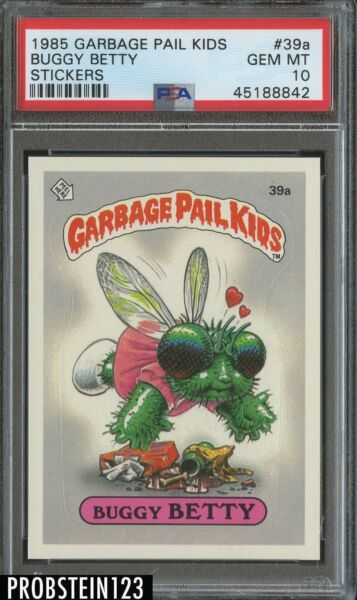 1985 Garbage Pail Kids Buggy Betty Stickers PSA 10 GEM MINT