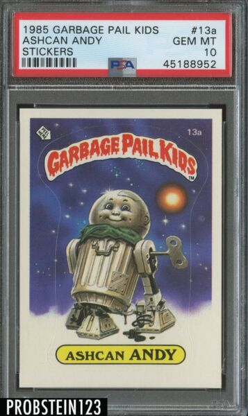 1985 Garbage Pail Kids Ashcan Andy Stickers PSA 10 GEM MINT