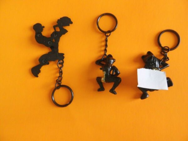 3 Vintage X-Rated Keychain  Moving Parts Couple Frog + Monkey-Adult Only