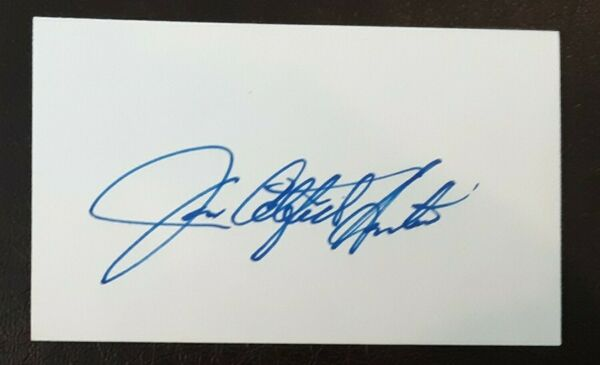 Jim Catfish Hunter Autographed Signed Index Card Oakland A's New York Yankees