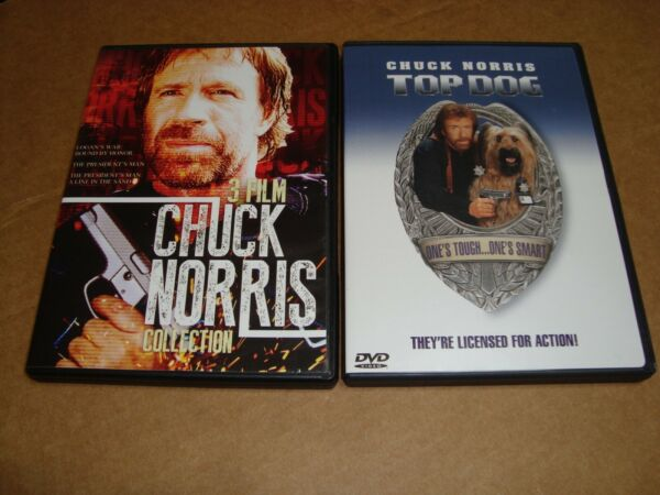Top Dog DVD 2001 Sensormatic amp; Chuck Norris 3 Film Collection DVD $7.99