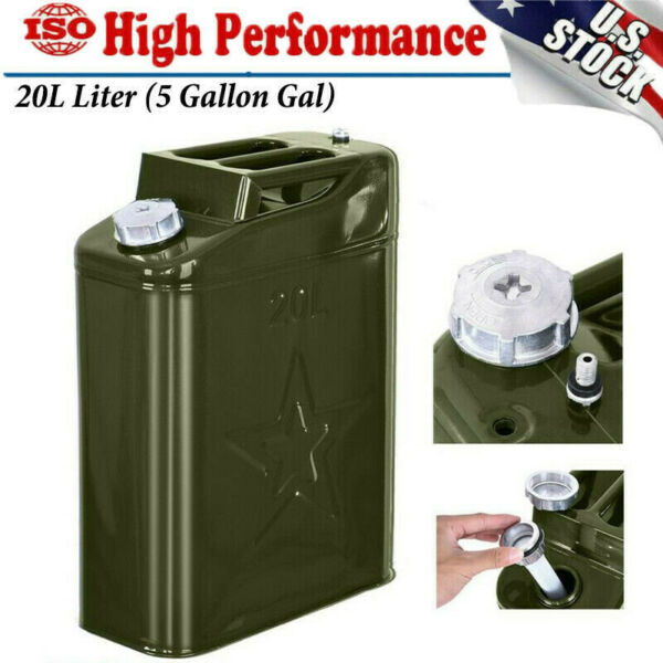 Jerry Can 5 Gallon Gas Gal Fuel NATO Military Metal Steel Tank Prepper 20L $29.51