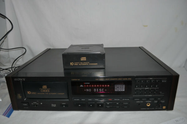 SONY CDP-C90ES Hi-End 10 DISC AUTOMATIC CD CHANGER PLAYER wMAGAZINE $90.00