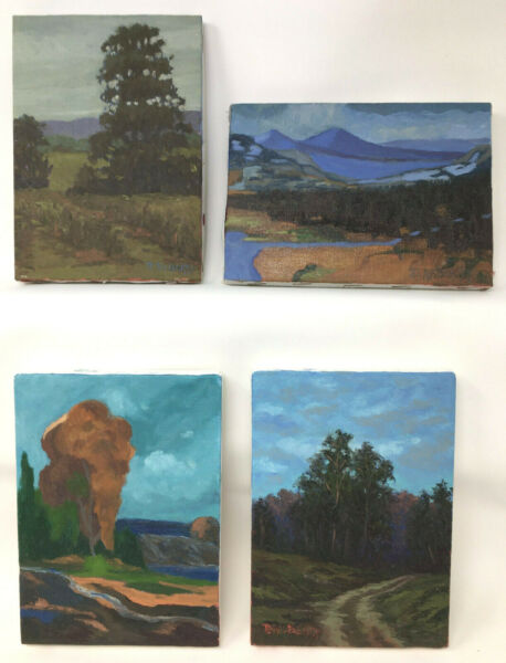 Jesse D Rasberry Oil Painting Group of 4 Landscapes 5
