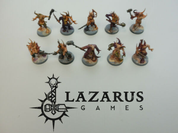 Warhammer 40k Death Guard Chaos Space Marines - 10 Nurgle Pox Walkers painted