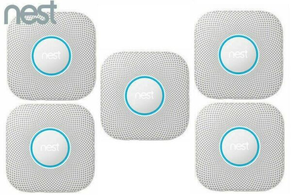 5 Pack Nest Protect Battery Operated Smoke Carbon Detector Alarm 2nd S3004PWBUS $631.79