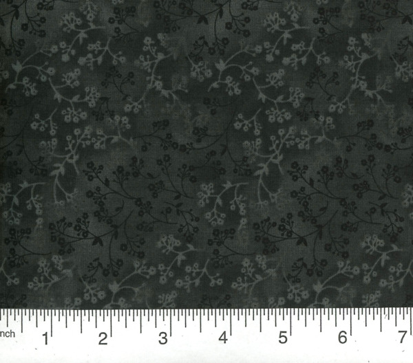 12 Yd Floral Quilt Fabric Calico Razzle Dazzle Flowers on Black