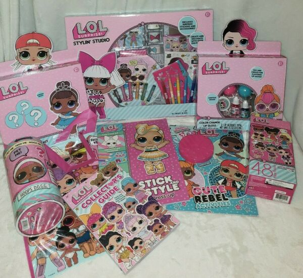 LOL SURPRISE Collecter Activity LUX Stick Style Coloring Book Stylin Studio Lot