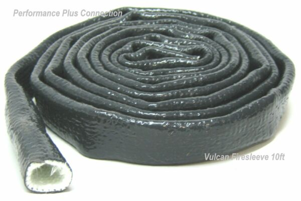Black Fire Sleeve Silicone Covered Shield ID 3 4quot; 12AN Sold Per Foot 304.8mm