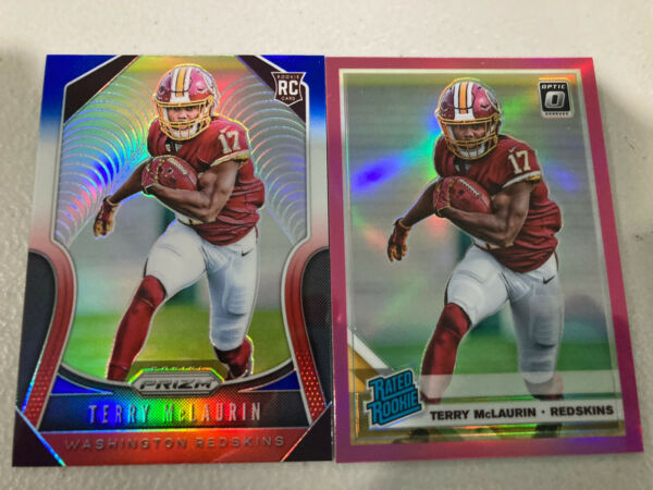 Terry McLaurin Red White & Blue Prizm & Pink Optic Rookies $3.50
