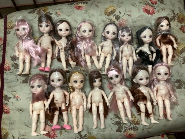 """6 """" Vinyl BJD for Your Doll To Hold Various Hair ColorsYour Choice + Shoes"""