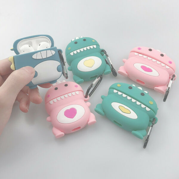 Cute Cartoon Dinosaur Shockproof Soft For Apple Airpods pro Charging Case Cover $8.54