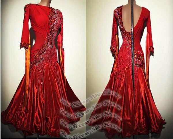 B8530 dance dress for women Ballroom Standard Waltz Tango Foxtrot UK 8 US 6 red