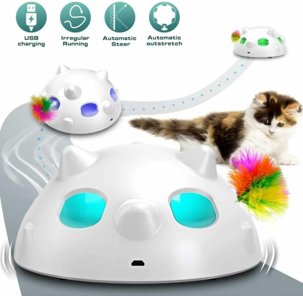 Interactive Cat Toys Automatic Irregular USB Charging Dog Kitten Pet Ambush Toy $86.99