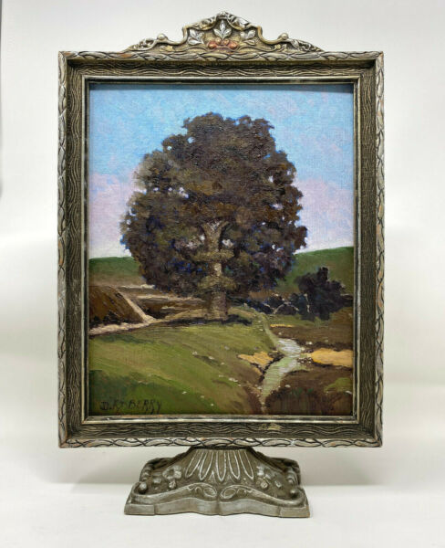 ORIGINAL OIL PAINTING IN AN ANTIQUE FRAME BY WELL LISTED ARTIST J.D. RASBERRY