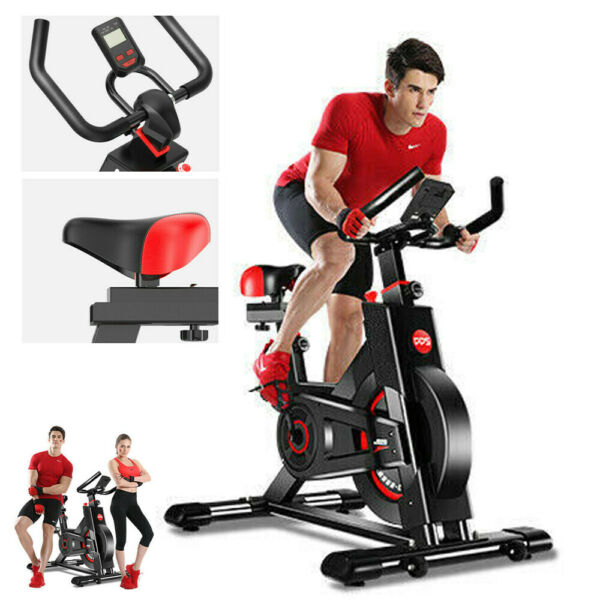 Indoor Exercise Bike Stationary Cycling Bicycle Cardio Fitness Gym Workout LCD $189.55