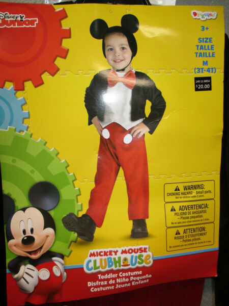 Disney Junior Mickey Mouse Clubhouse Toddler Boys Halloween Costume