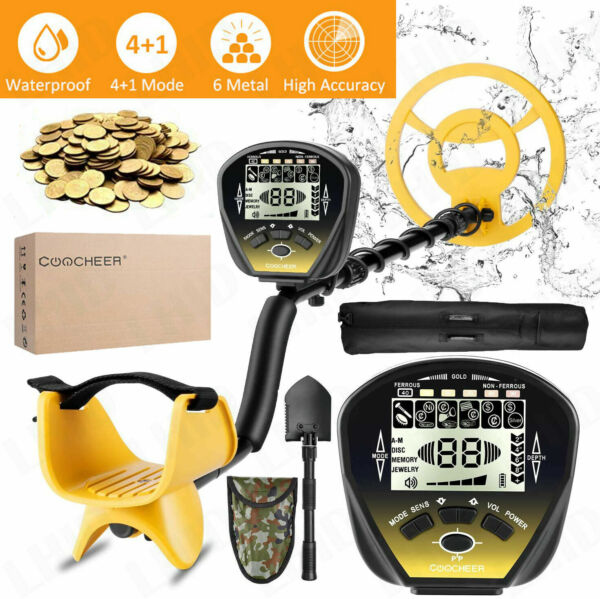 Deep Ground Metal Detector Gold Finder LCD Display w Waterproof Search Coil NEW
