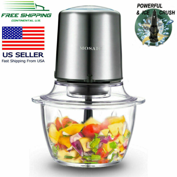 Electric Food Processor MOSAIC, Food Chopper, Meat Grinder, Glass Bowl, 400W