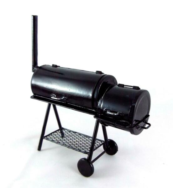 Dolls House Deluxe BBQ Barbeque Smoker Grill Miniature 1:12 Garden Furniture