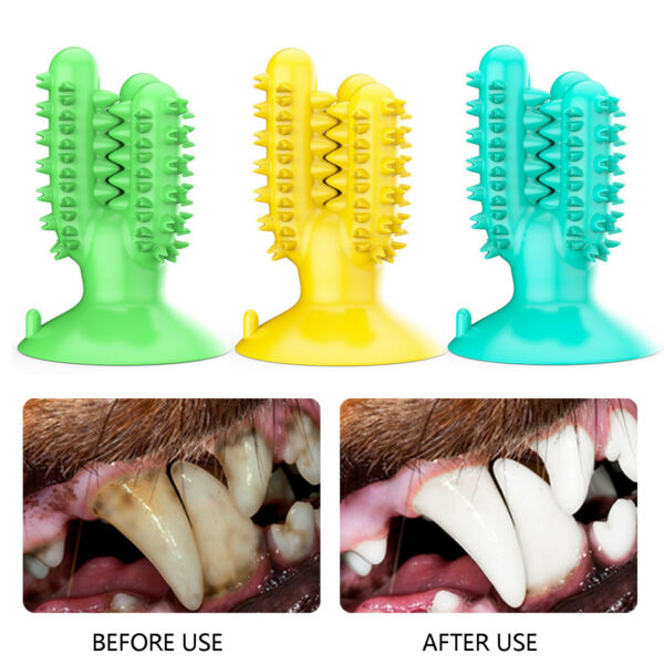 Dog Chew Toys Pet Molar Tooth Cleaner Brushing Stick Dog Teeth Care Cleaning Toy $10.46