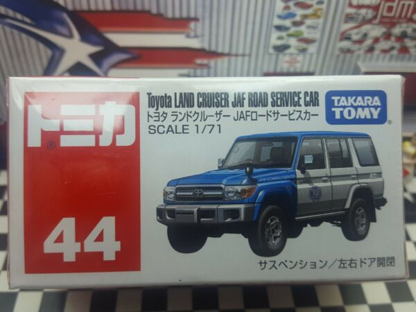 TOMICA #44 TOYOTA LAND CRUISER JAF ROAD SERVICE CAR 1 71 SCALE NEW IN BOX