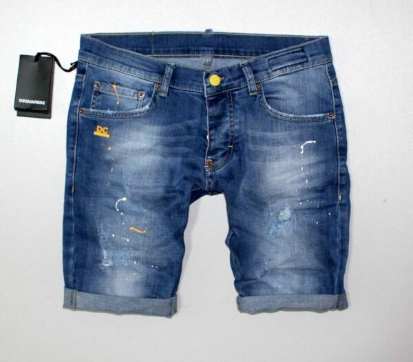 DSQUARED2 Men`s short jeans blue color few sizes MADE IN ITALY $28.50