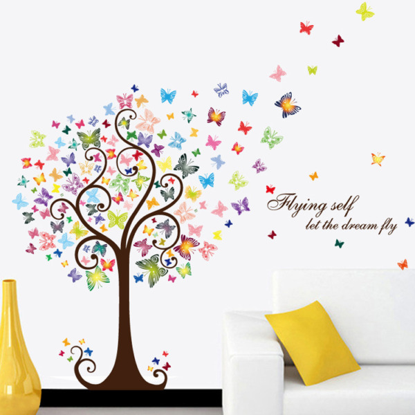 DIY Butterfly Tree Nursery Removable Wall Decal Vinyl Stickers Art Home Decor
