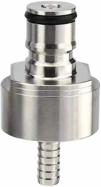 Stainless Steel Carbonation Cap with 5 16quot; Barb Ball Lock Homebrew Beer Soda