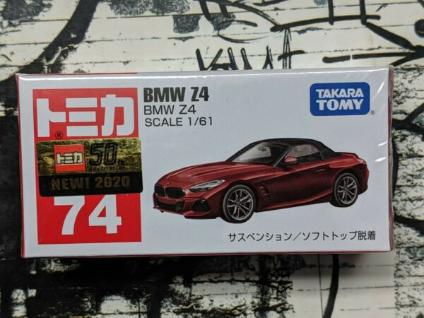 TOMICA #74 BMW Z4 1 61 SCALE NEW IN BOX