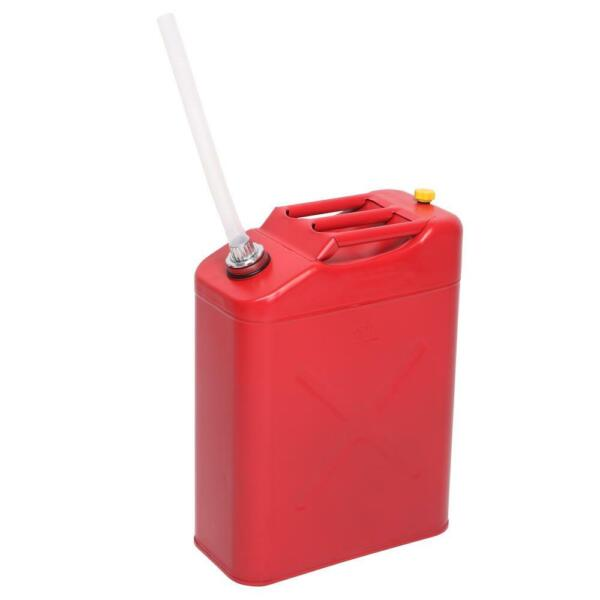 New Red 20L 5 Gal Gas Jerry Can Fuel Gasoline Steel Tank Spout Leak Proof $28.98