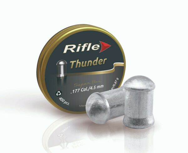 RIFLE 177 cal FIELD THUNDER 13.43 gr AIRGUN PELLETS 400 ct $14.95