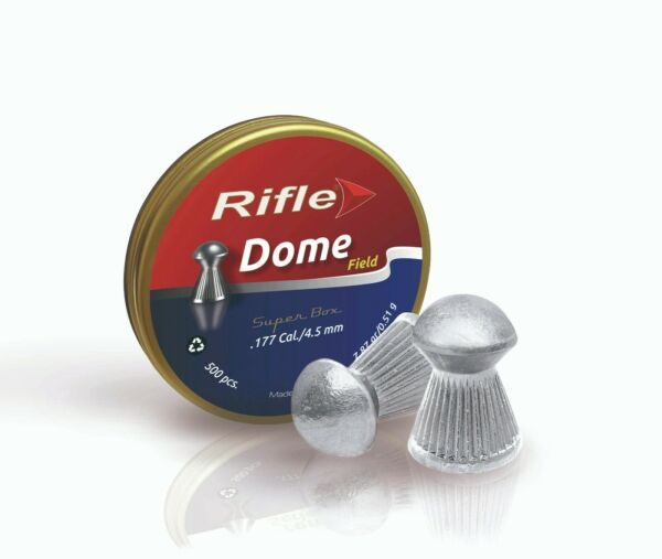RIFLE 177 cal FIELD DOME 7.87 gr AIRGUN PELLETS 500 ct $12.95