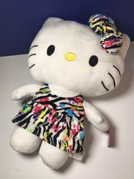 14quot; Hello Kitty Sanrio Plush Doll Fiesta Glitter Leopard Dress 2015 With Tags