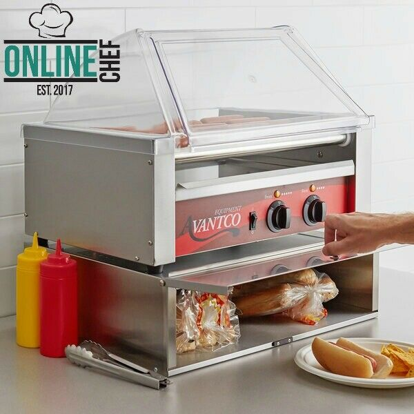 Hot Dog Stainless Steel Bun Cabinet 64 Buns Flat Storage Compact Size Sturdy $121.23