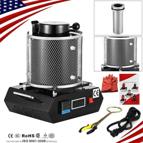 3KG Automatic Electric Metal Melting Furnace Gold Silver Smelter Machine 110V US $224.55