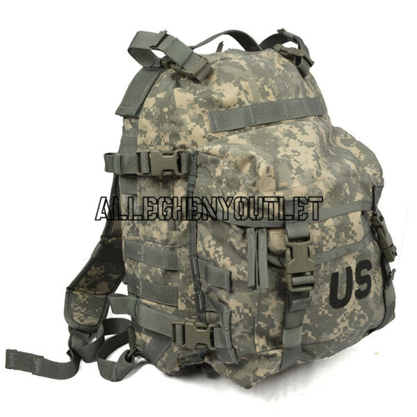 US ARMY ACU ASSAULT PACK 3 DAY MOLLE BACKPACK w Stiffener and Pad VGC