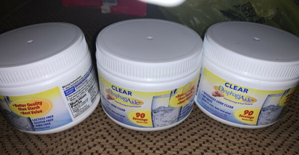 3 Clear DysphagiAide® Instant Beverage and Food Thickener Powder 4.4 oz Each $17.50