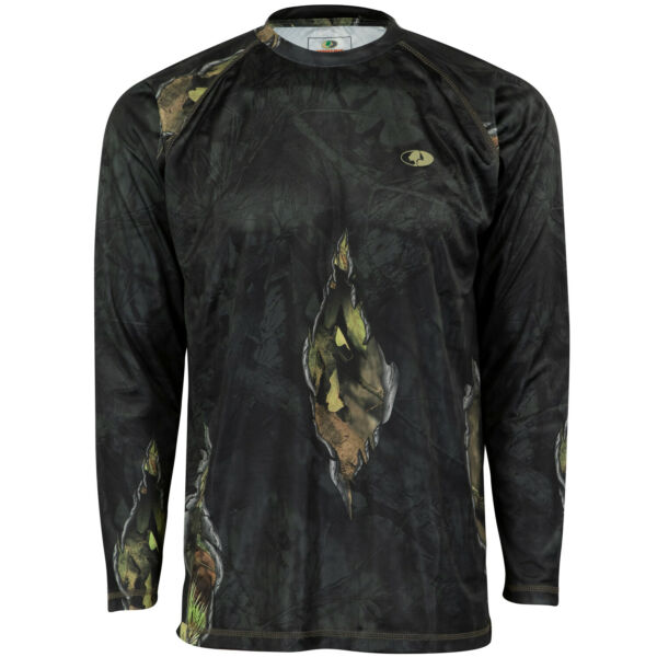 Mossy Oak Eclipse Youth Long Sleeve Camo Hunt Tech Tee