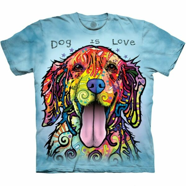 Dog Is Love Adult Unisex T Shirt The Mountain $24.95
