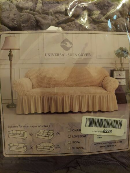 CHUN YI Universal Sofa Slipcover with Skirt 1 Piece Fitted Couch Cover... $30.00