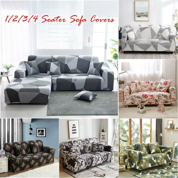 1 2 3 4 Seater High Quality Couch Covers Stretch Sofa Covers for Living Room $23.99