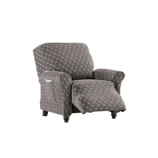 Diamond Stretch Stain Resistant Slipcover Furniture Cover Protector $34.97