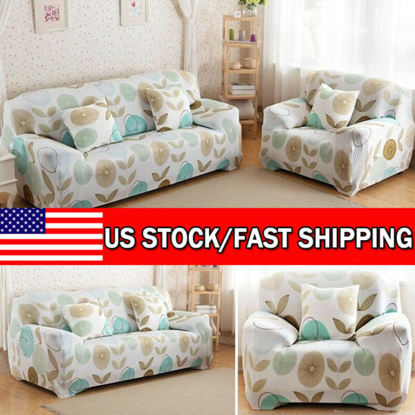 Universal Sofa Slipcover Protector Printed Stretch Sofa Slipcover Couch Cover $28.28