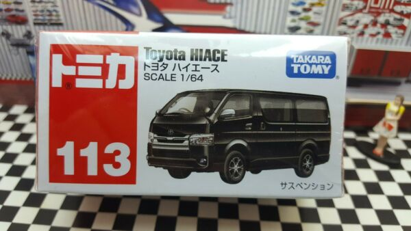 TOMICA #113 TOYOTA HIACE 1 64 SCALE NEW IN BOX