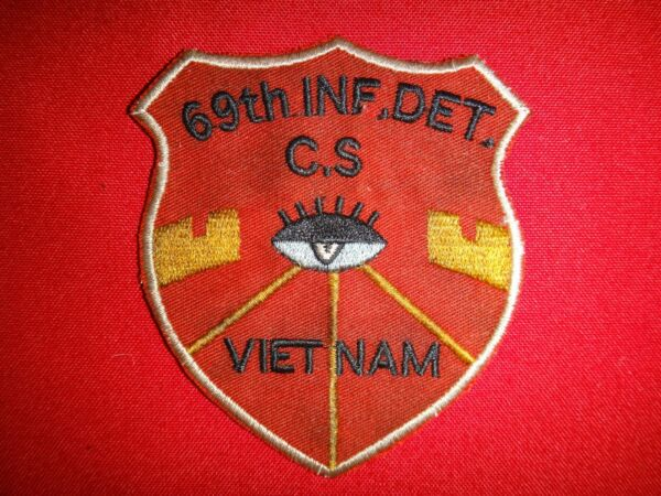 US 69th INFANTRY Detachment GROUND SURVEILLANCE Vietnam War Patch
