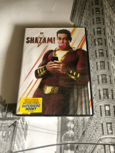 Shazam DC Comics DVD 2019 Brand New Zachary Levi Movie Action Hero