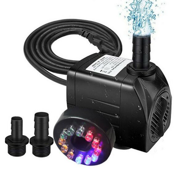 Submersible Water Pump Powerhead Hydroponic Fountain Pond Aquarium Adjustable $18.99